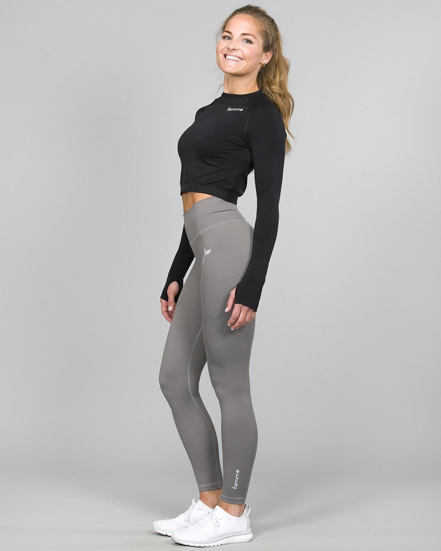 Famme Essential High Waist Legging – Grey ehwt-gr d