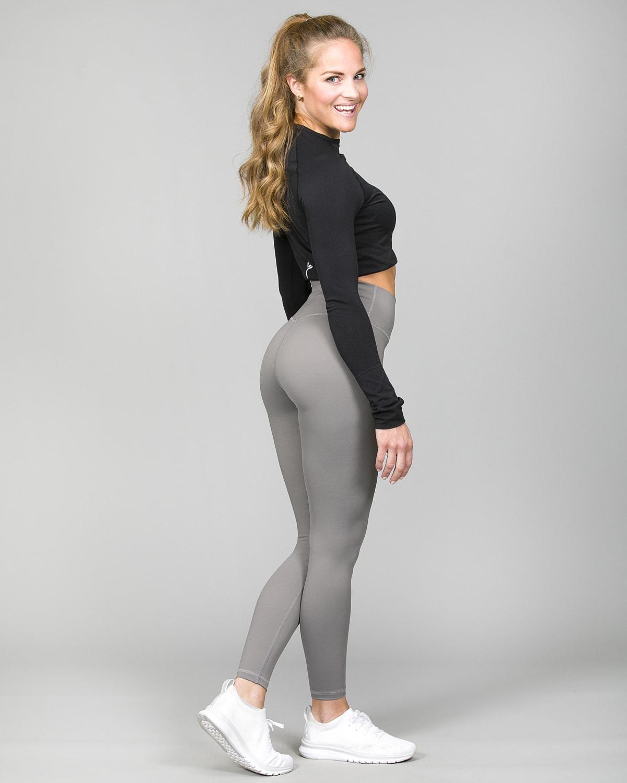 Famme Ocean Crop Top Black ocls-bk and Essential High Waist Legging – Grey ehwt-gr f