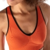 Skiny L. Crop Top - Blazing Orange