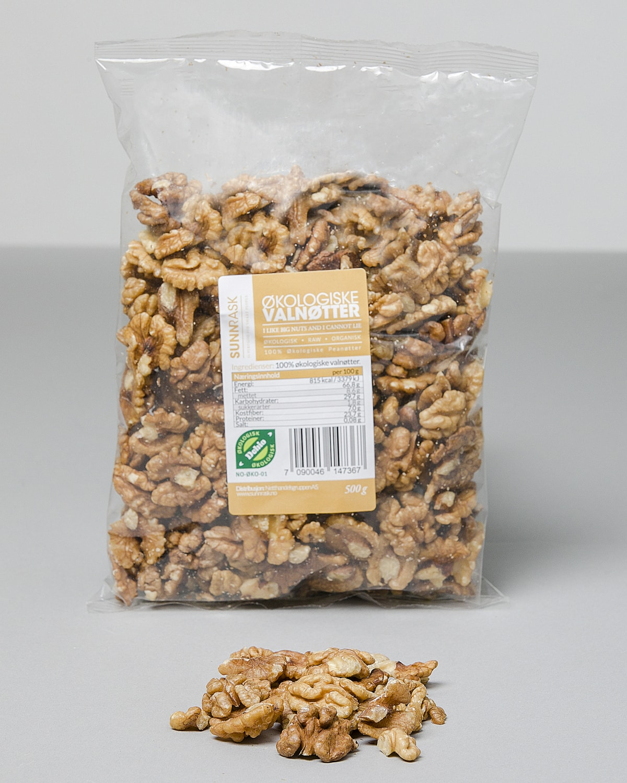Sunnrask Økologiske valnøtter 500 gr