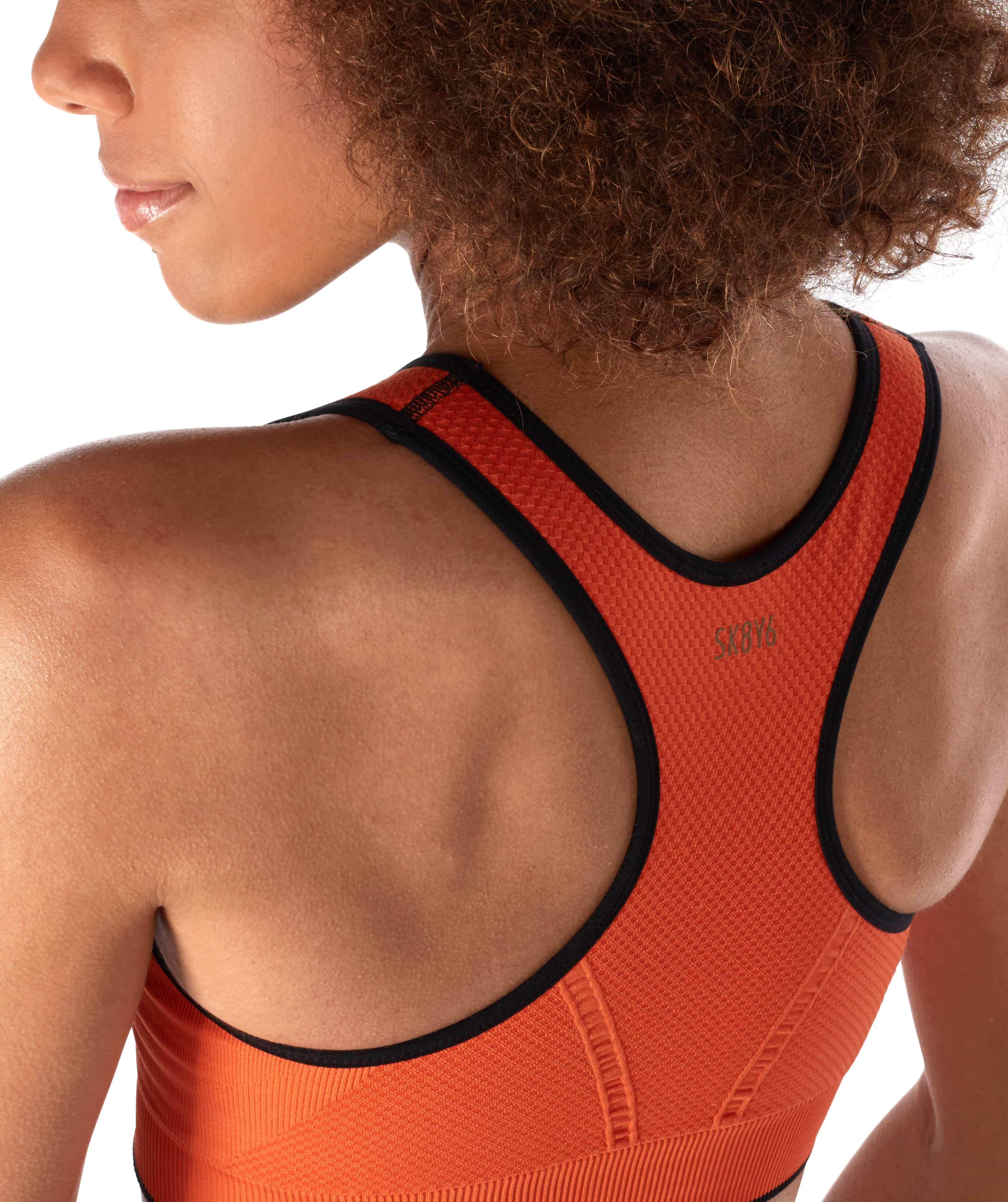 Skiny L. Crop Top - Blazing Orange