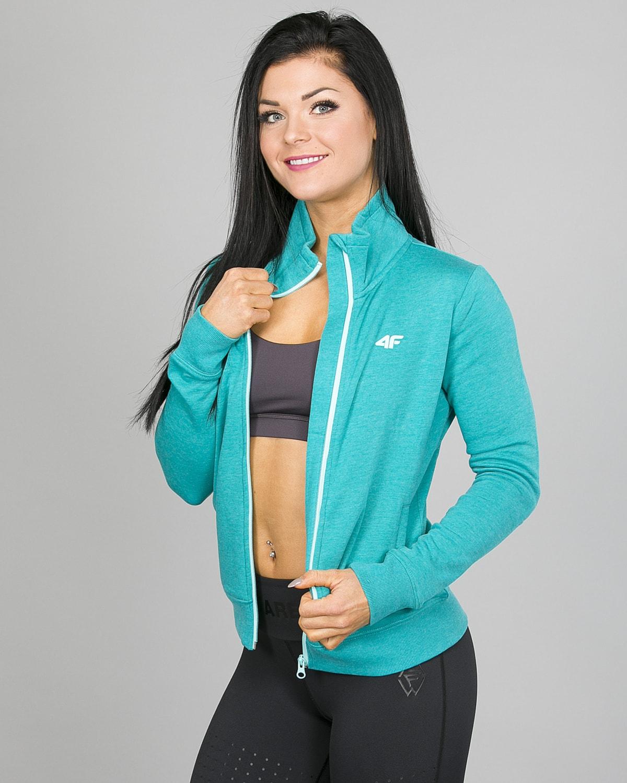 4F Sweatshirt, Emerald h4l17-bld002-1518 b