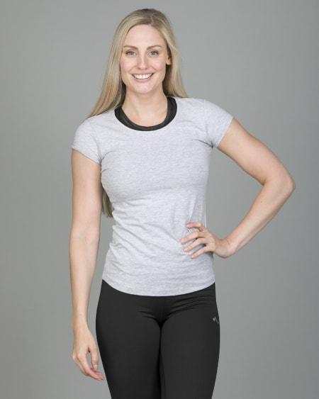 4F T-Shirt Women – Light Grey Melange tsd001