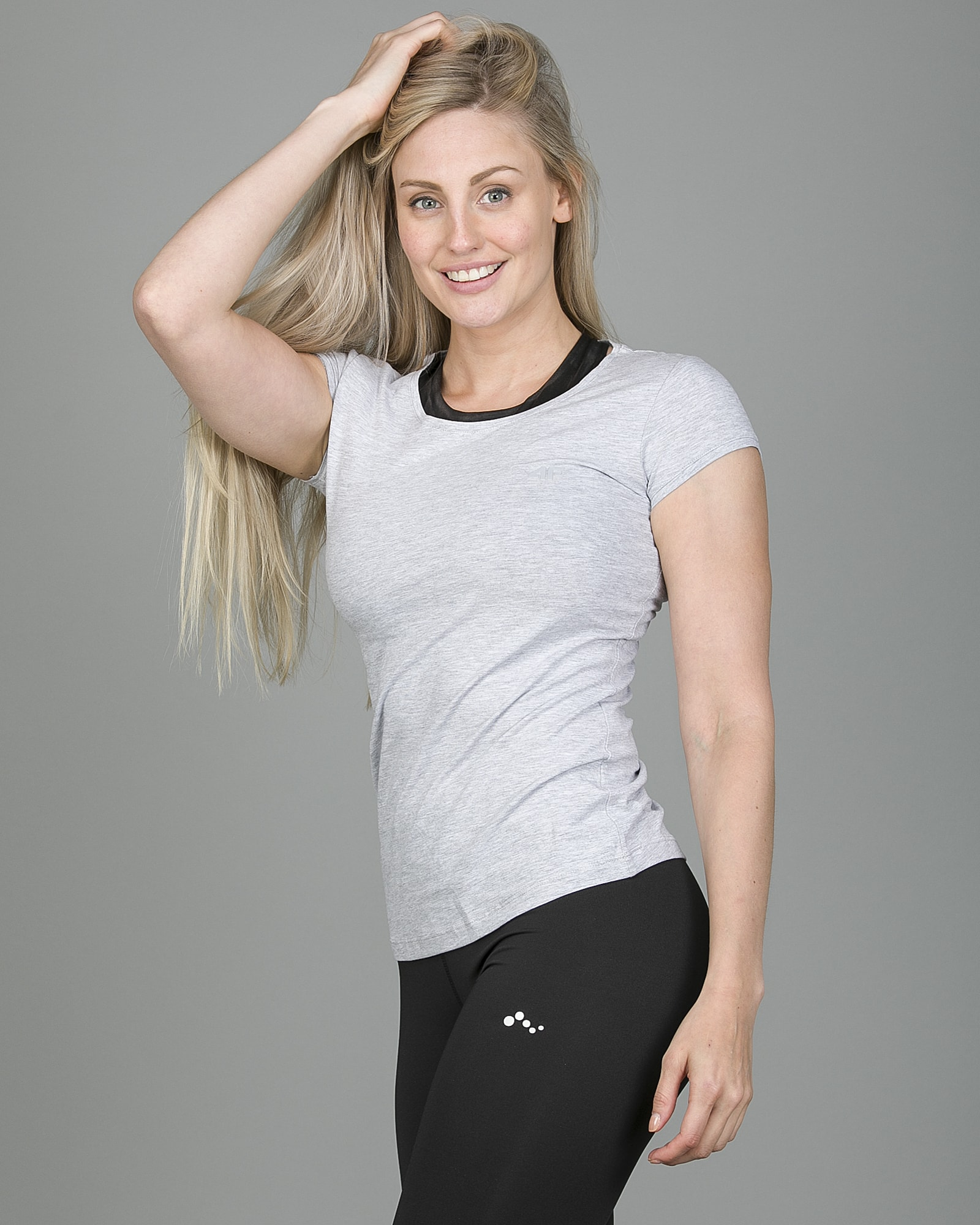 4F T-Shirt Women – Light Grey Melange tsd001 b