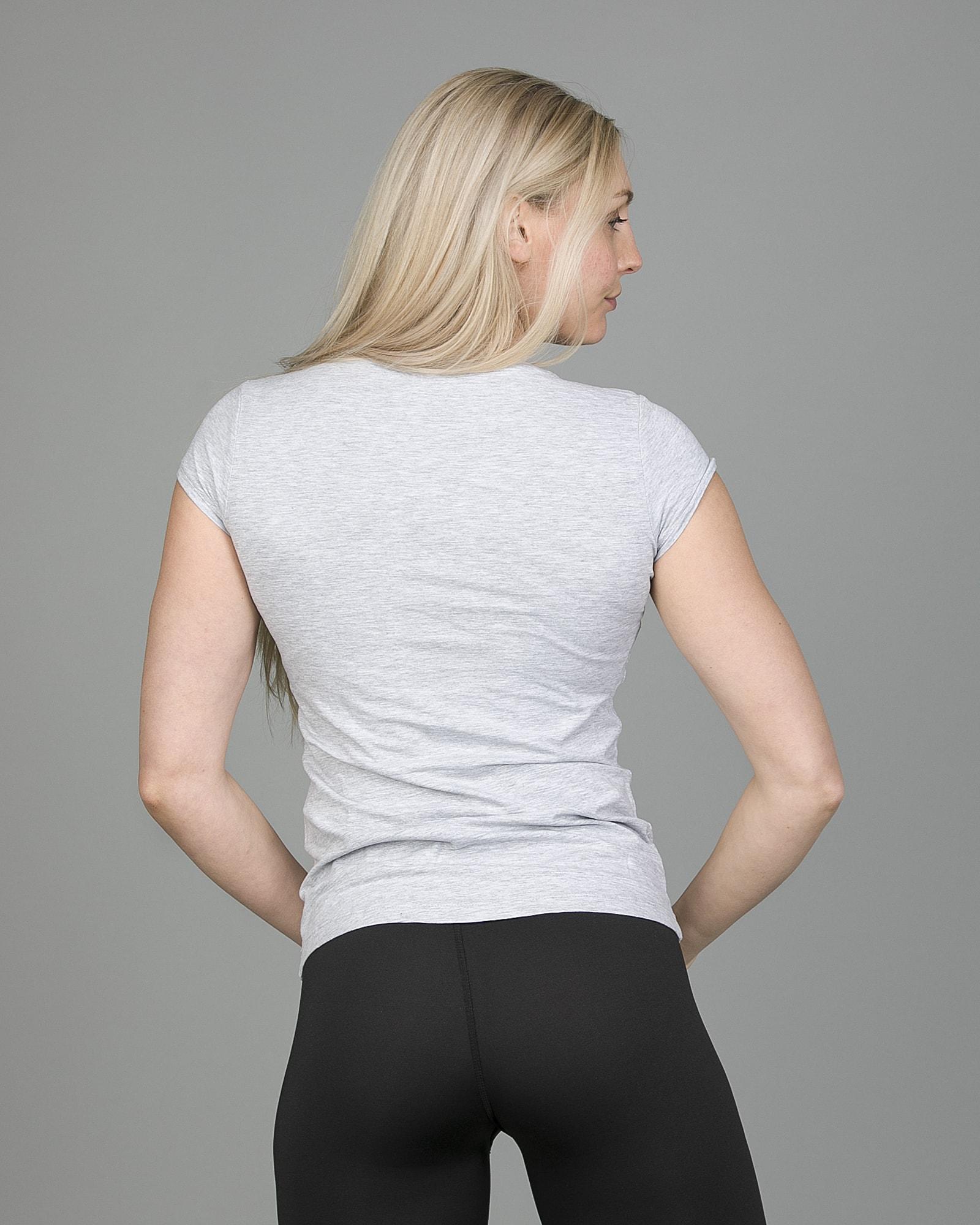 4F T-Shirt Women – Light Grey Melange tsd001 c