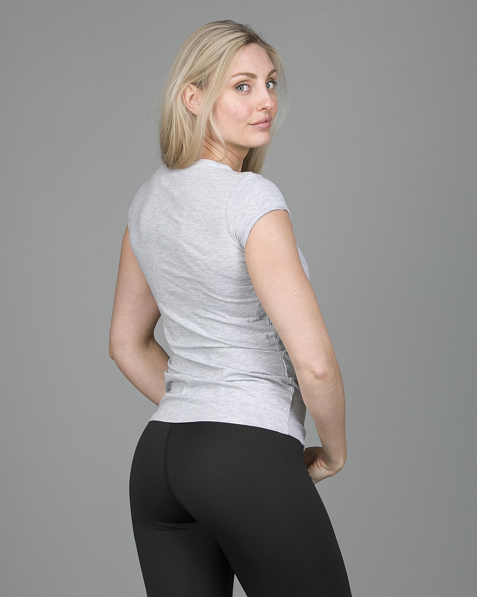 4F T-Shirt Women – Light Grey Melange tsd001 d