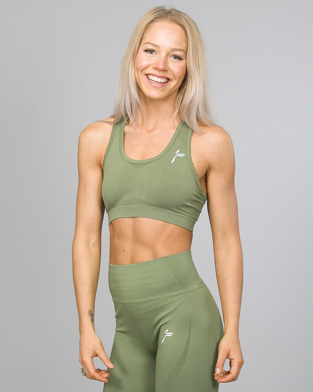 Famme Drop It Sports Bra disb-ag Army Green