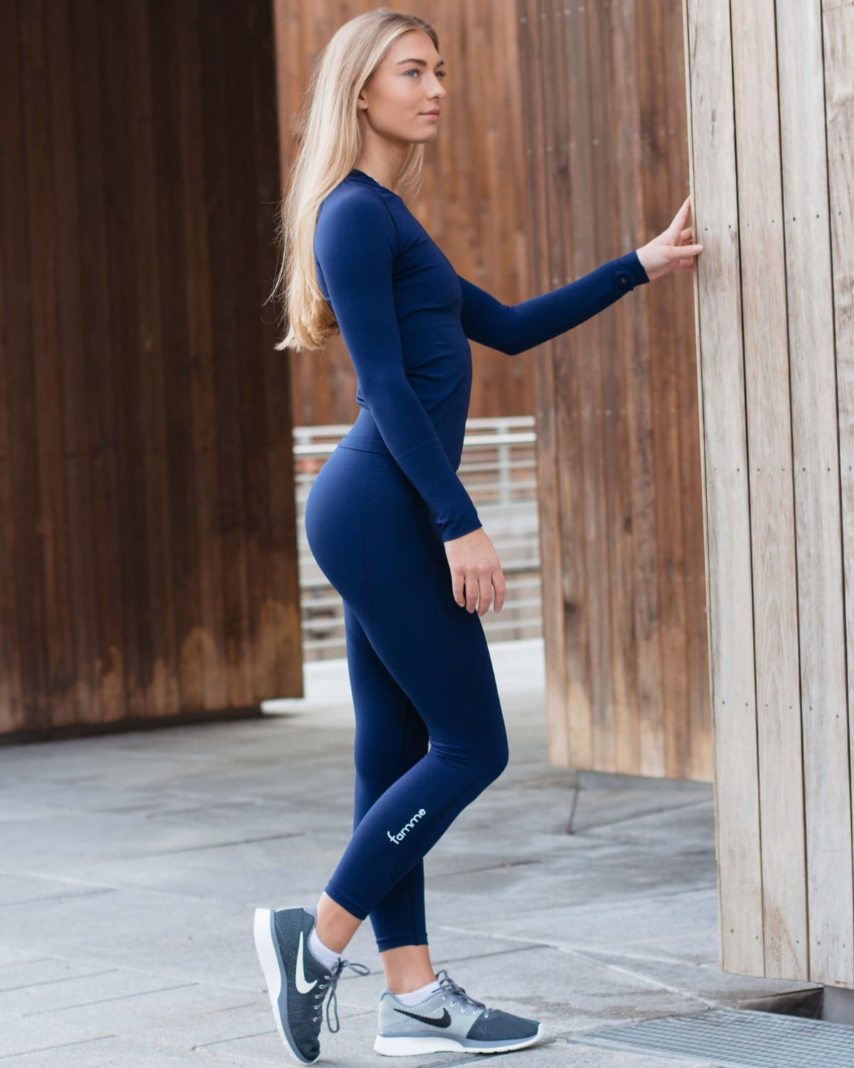 FAMME Vortex Leggings – Navy Blue