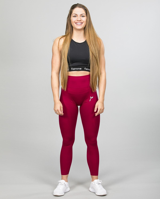 Famme Vortex Legging – Dark Red vhwl-bx d