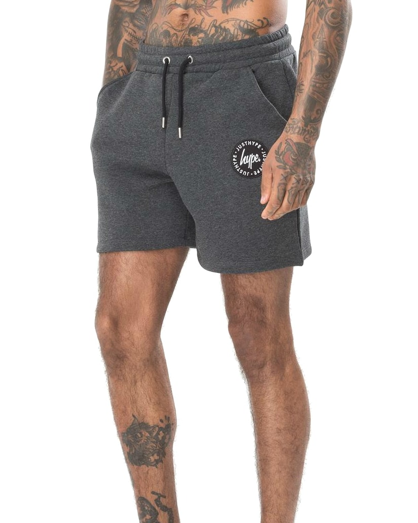 Hype Badge Shorts Men tm2ndrp16 Charcoal