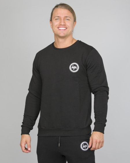 Hype Crest Crewneck Men aw17252 Black