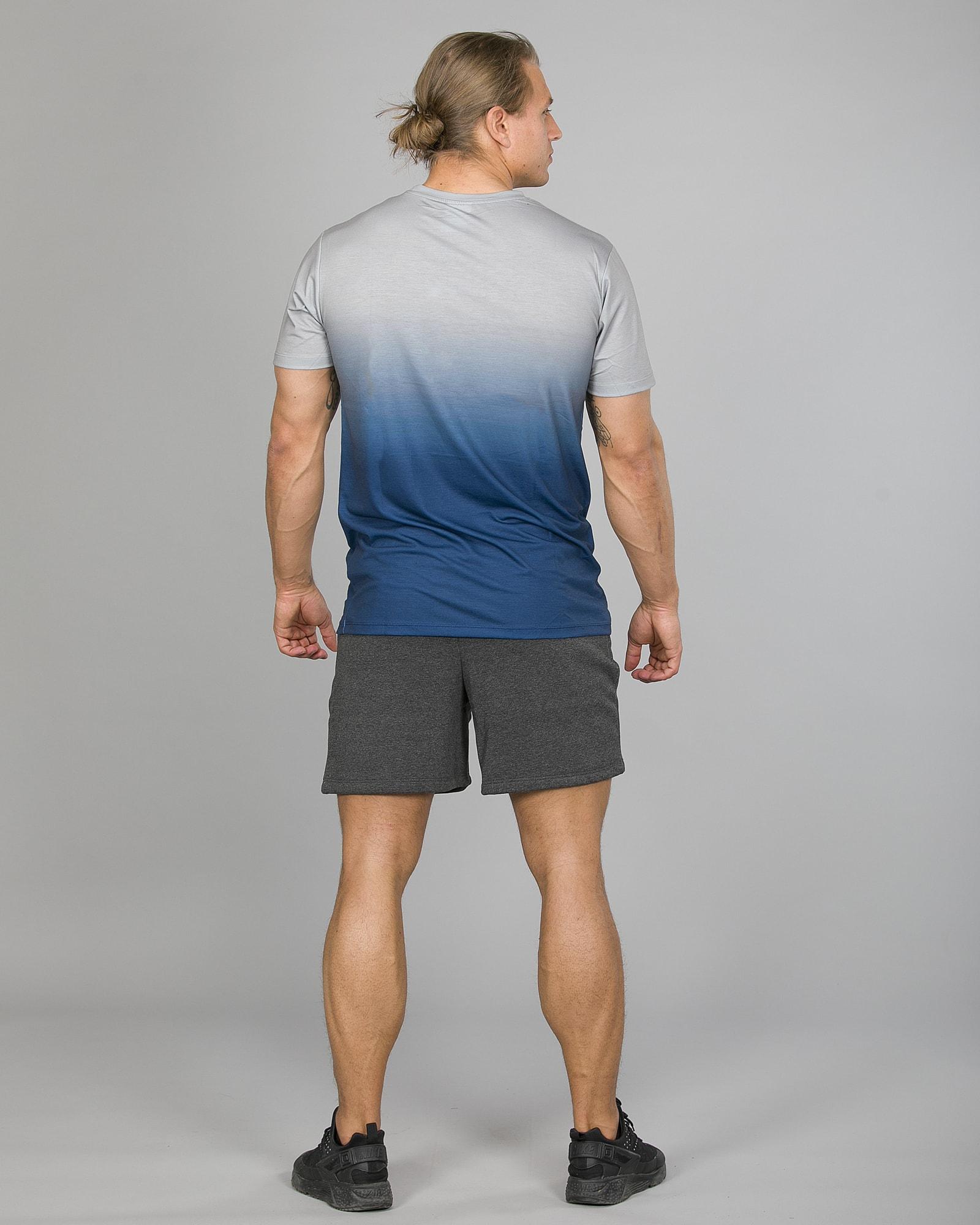 Hype Midnight Fade T-Shirt Men ss18210b Blue:Grey and Badge Shorts Men tm2ndrp16 Charcoal c