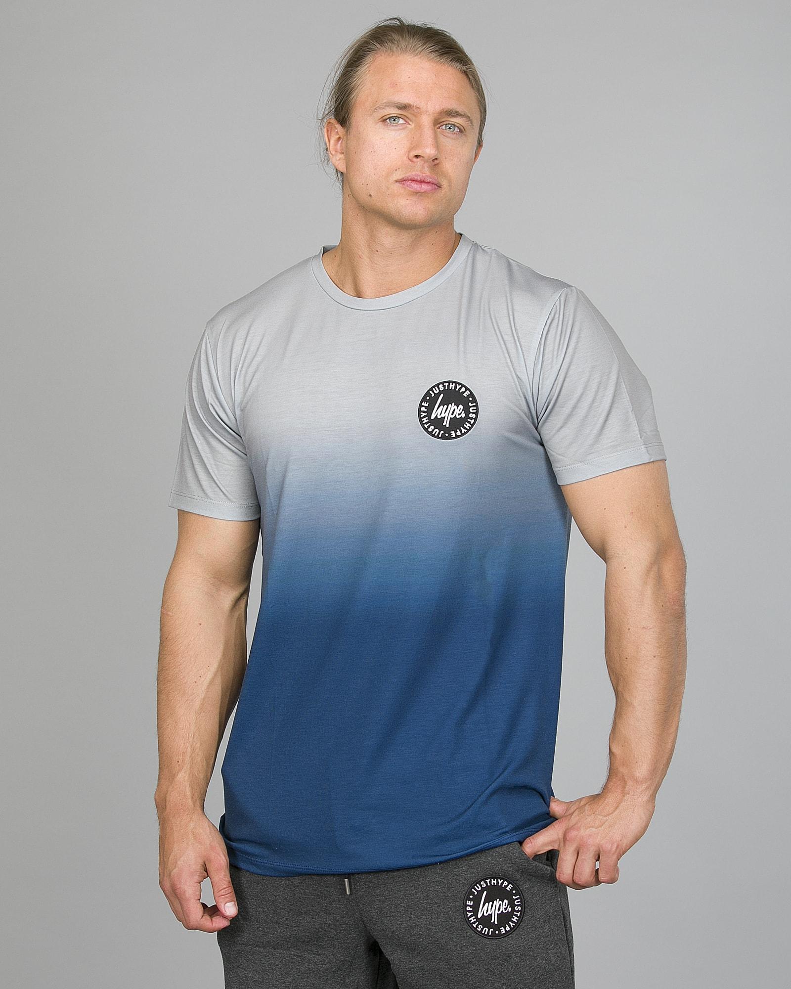 Hype Midnight Fade T-Shirt Men ss18210b Blue:Grey