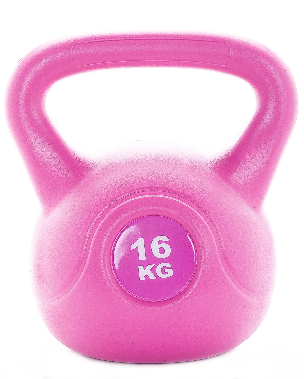 LEVITY Premium Fitness Vinyl Kettlebell 16kg a