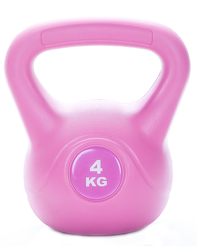LEVITY Premium Fitness Vinyl Kettlebell 4kg a