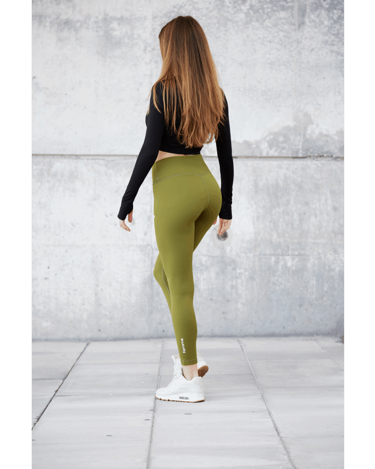 FAMME Essential High Waist Leggings – Forest Green