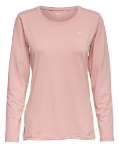 Only Play Clarissa Long Sleeve Training Tee- Silver Pink