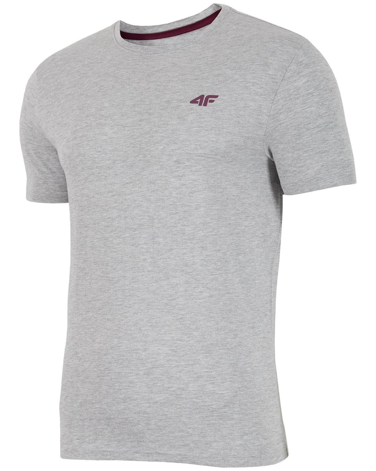 4F Man's T-Shirt - Light Grey Melange