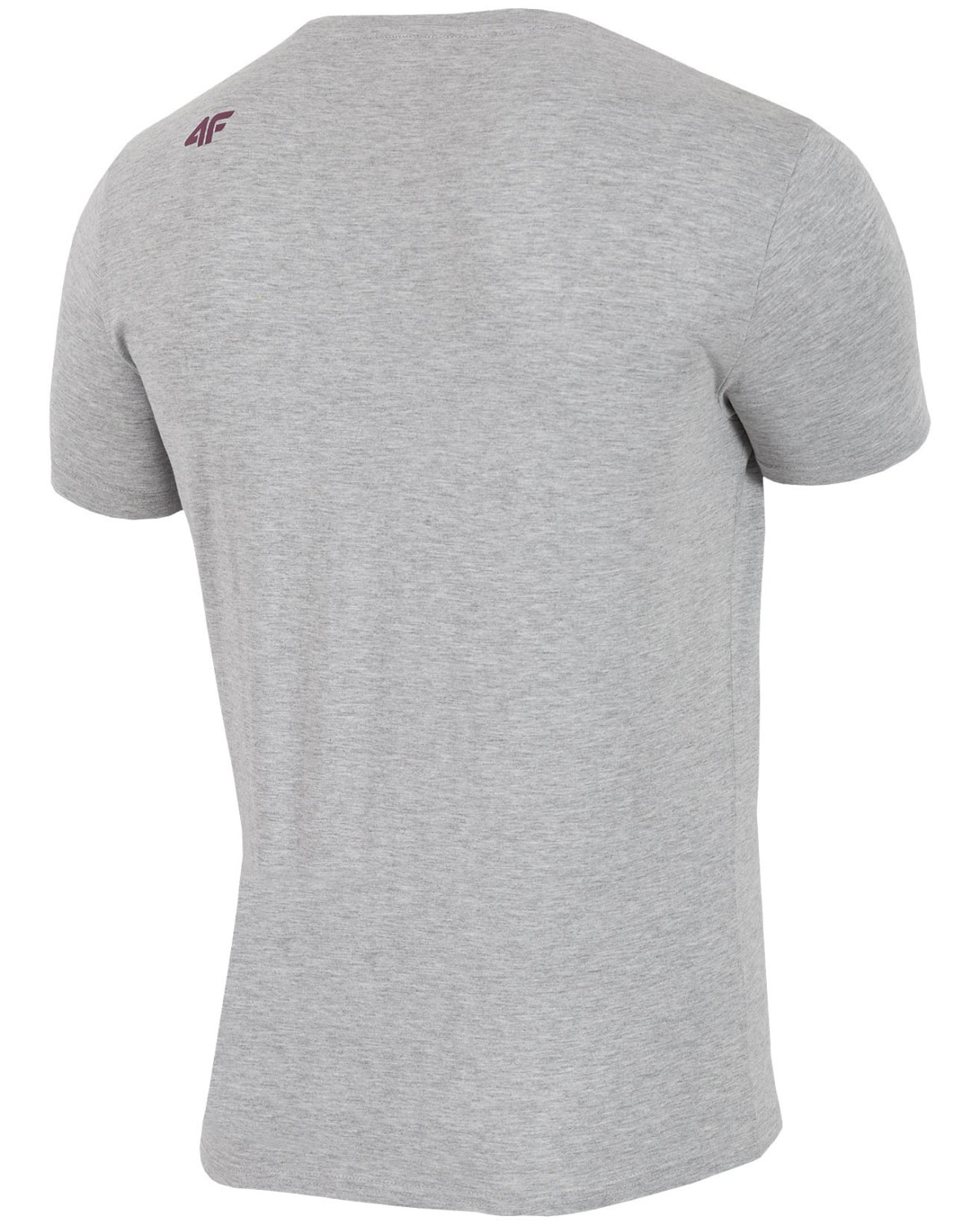 4F Man's T-Shirt – Light Grey Melange