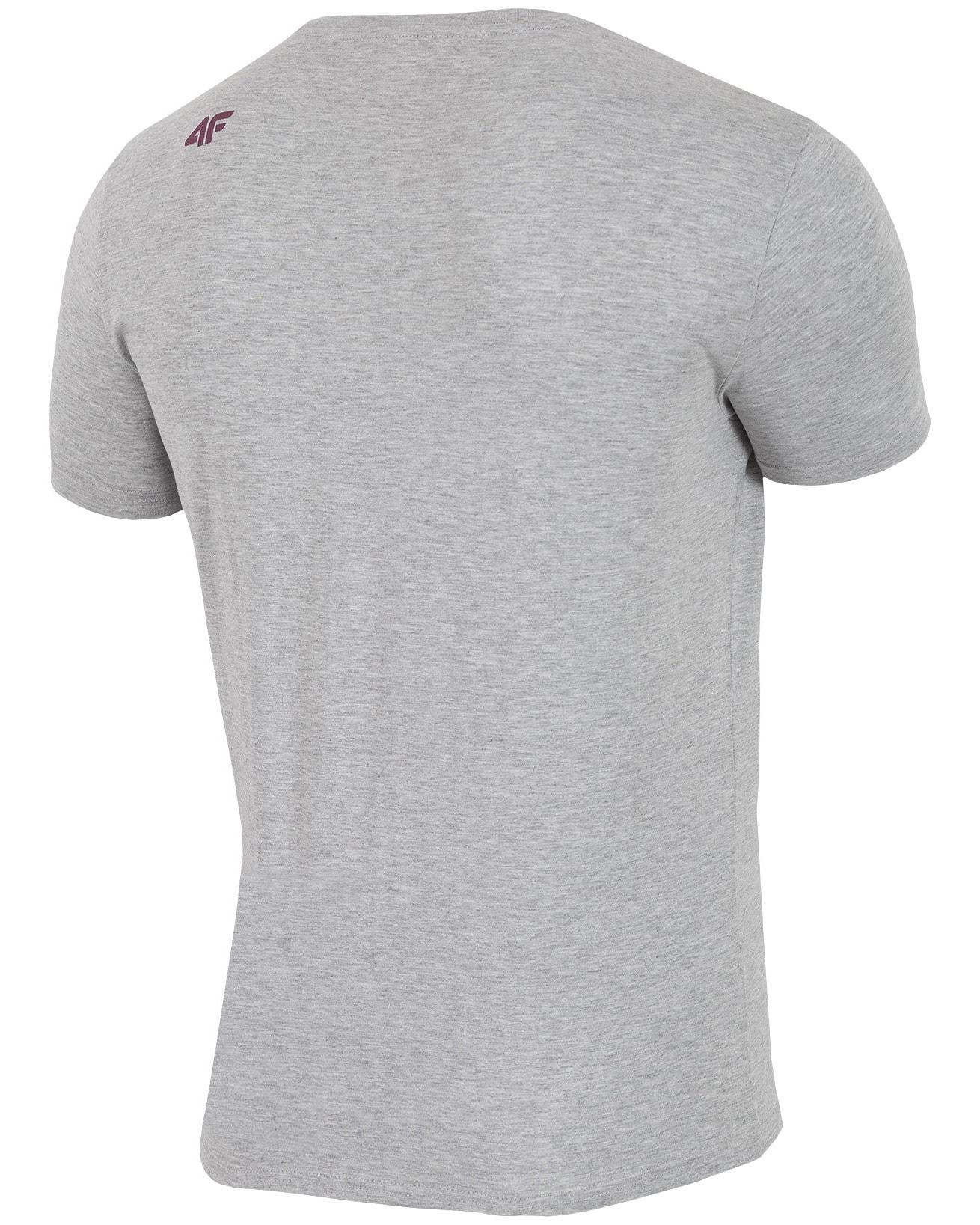 4F Man's T-Shirt - Light Grey Melange