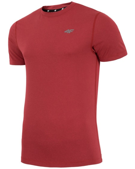 4F Man's Functional T-shirt - Red Melange