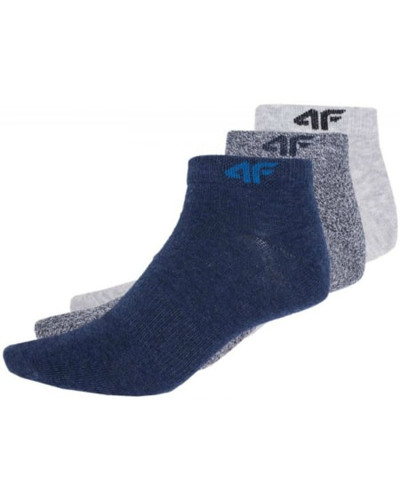 4F Mens Socks Blue Dark Grey Light Grey som001