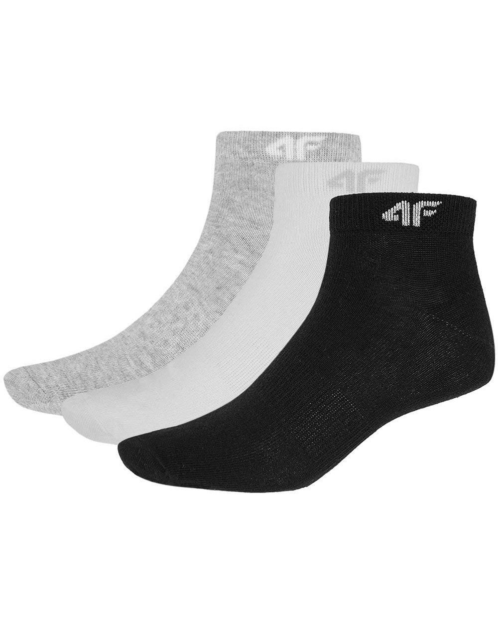 4F Womens Socks White Black Grey sod001