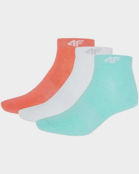 4F Womens Socks - WhiteMintCoral b