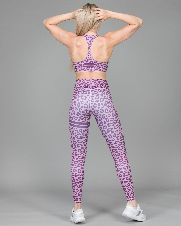 Aim'n Pink Cheetah Tights 18020004 and Bra 18030004 b