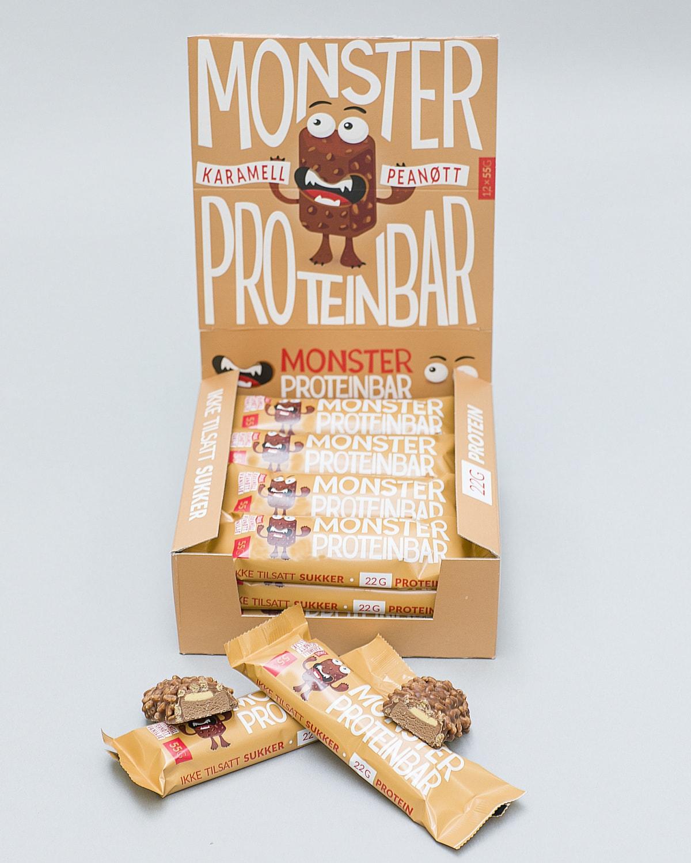 Monster Karamell Peanøtt Proteinbar d