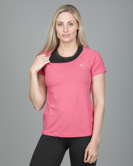 Only Play Rebecca Training Short Sleeve Tee - Fruit Dove 15150640 b
