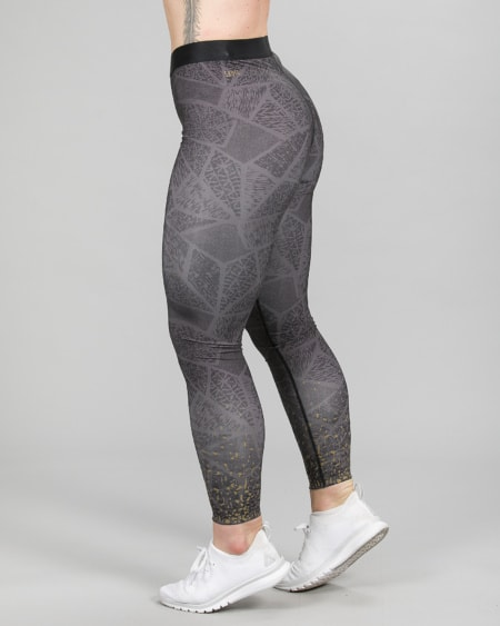 Skiny SK86 Long Running Tights 083114- Dark Graphic