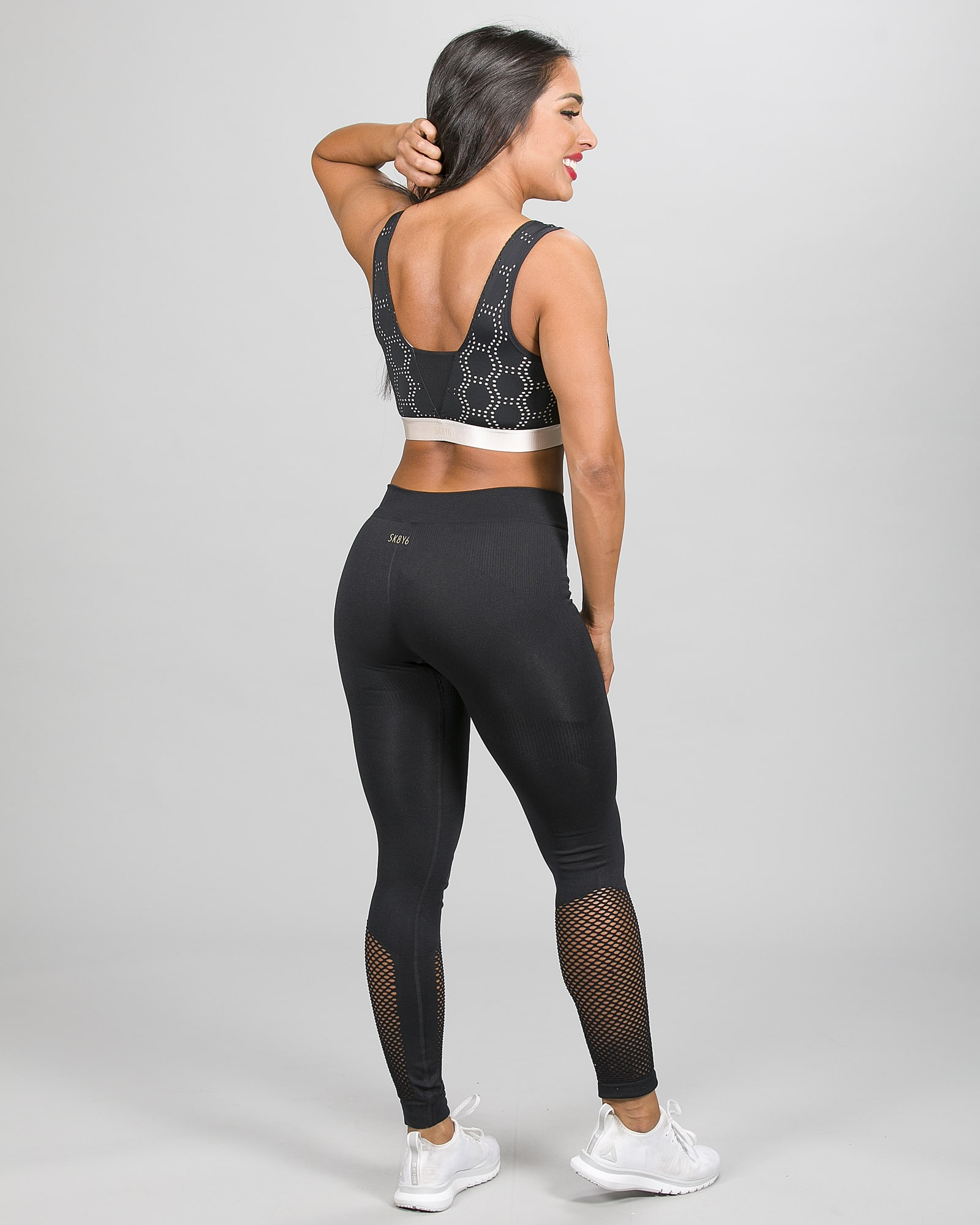 Skiny SK86 Running Tights 082877 og Crop Top 083093 e