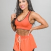 Skiny SK86 Shorts 083111and Crop Top 083094- Blazing Orange h