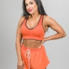 Skiny SK86 Shorts 083111and Crop Top 083094- Blazing Orange i