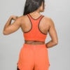 Skiny SK86 Shorts 083111and Crop Top 083094- Blazing Orange j