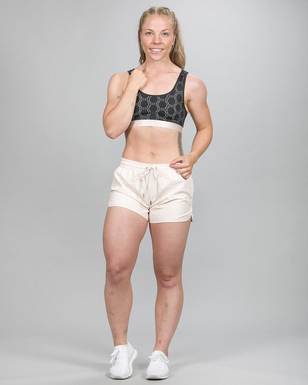 Skiny SK86 Shorts – Crystal Gray 083109 og Crop Top 083093 b