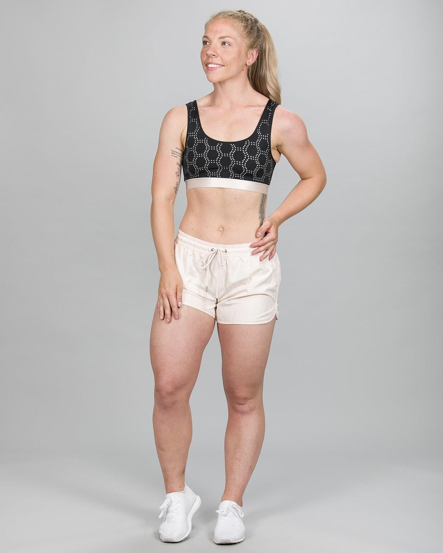 Skiny SK86 Shorts – Crystal Gray 083109 og Crop Top 083093 g