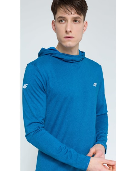 4F Men's Functional Sweatshirt - Denim Melange