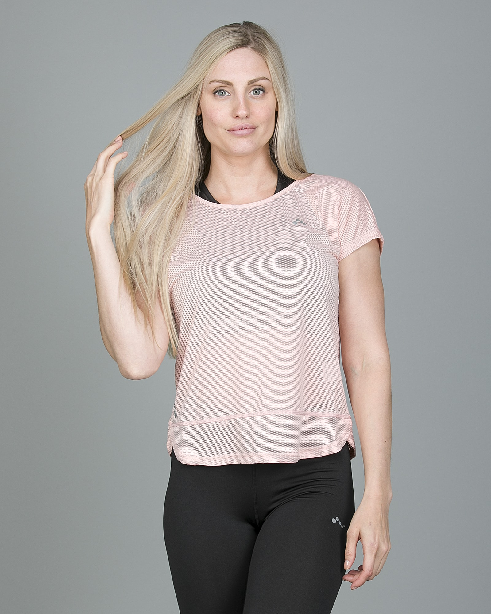 Only Play Jasmin Training Loose Short Sleeve Tee - Silver Pink 15148754 b
