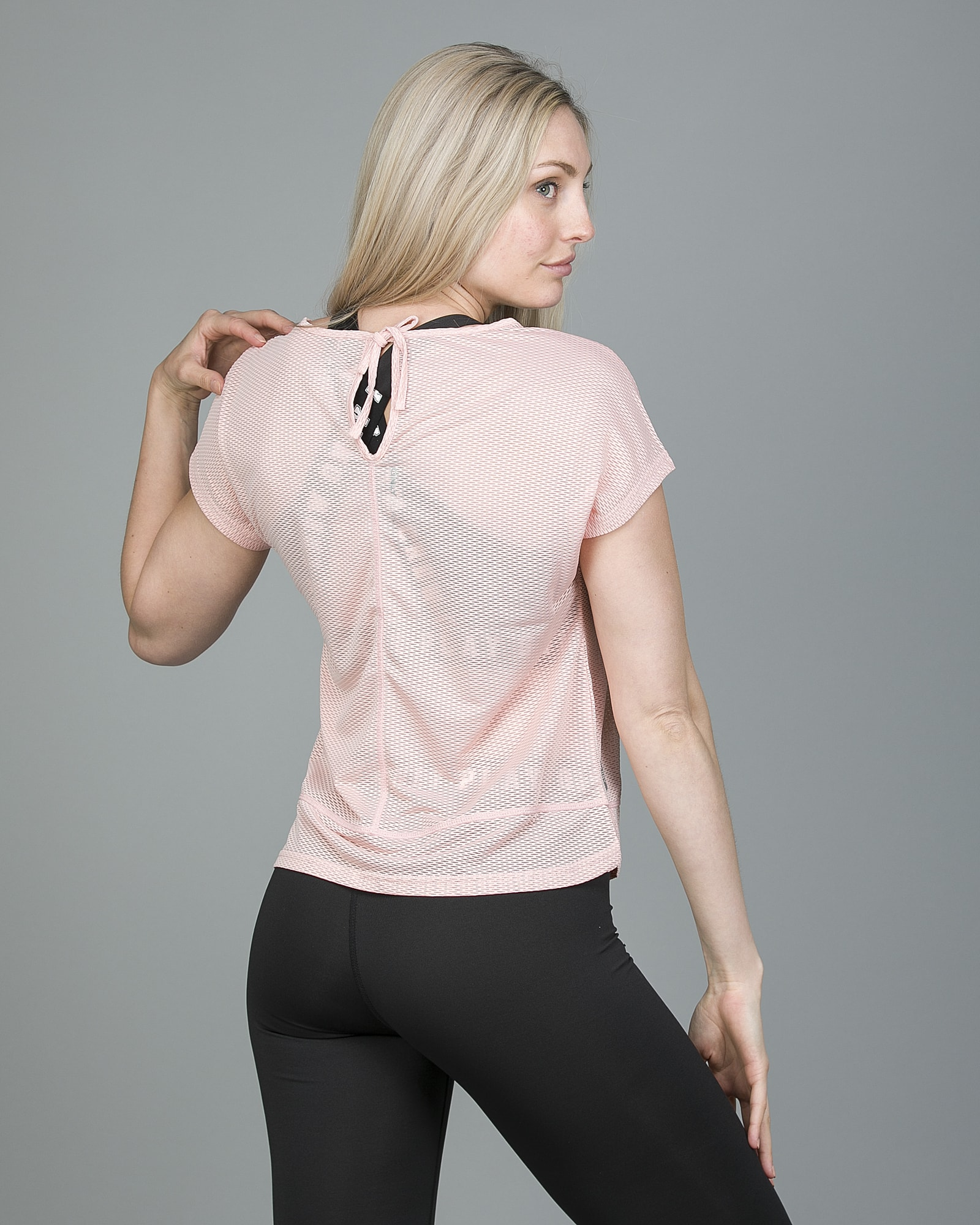 Only Play Jasmin Training Loose Short Sleeve Tee - Silver Pink 15148754 e