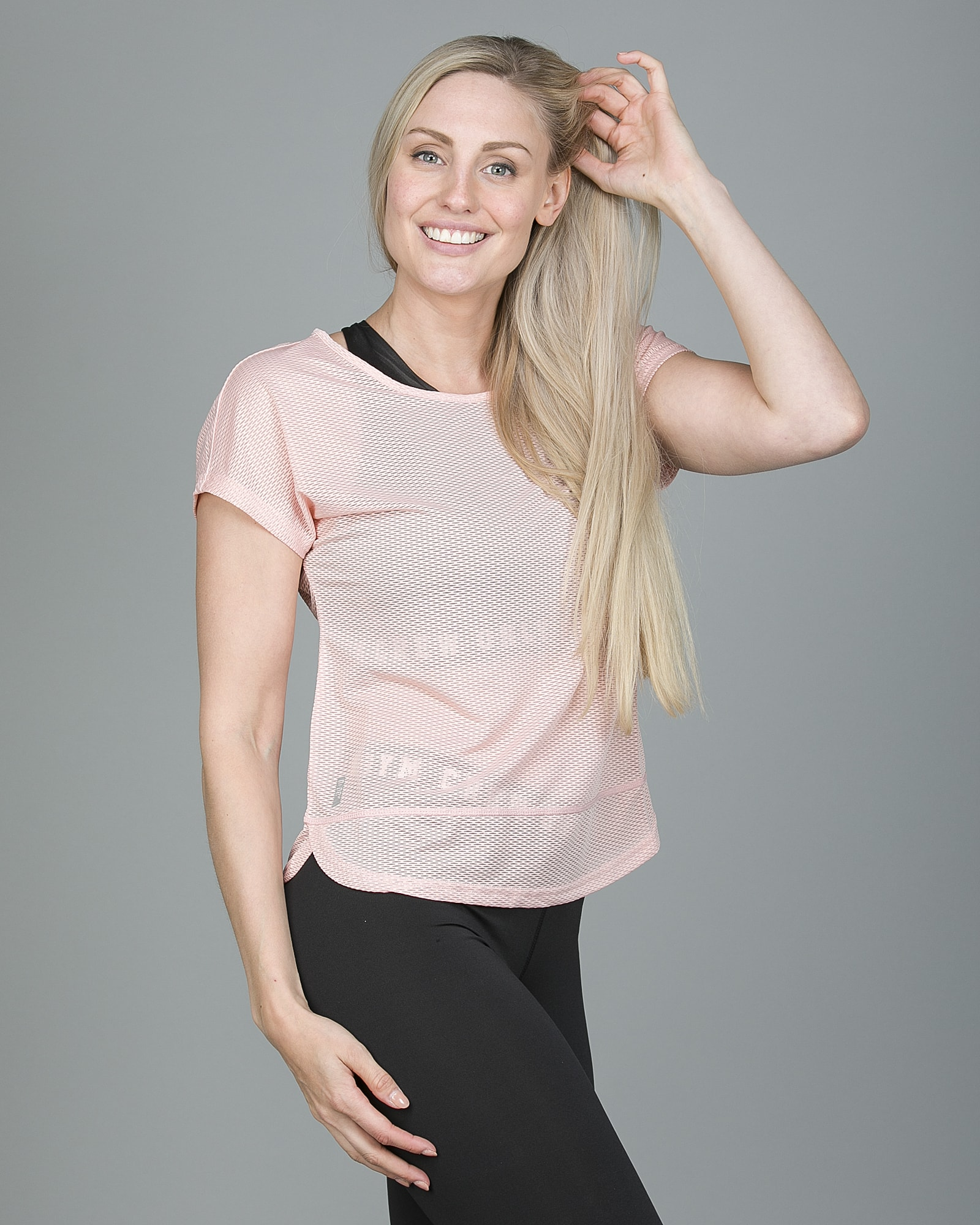 Only Play Jasmin Training Loose Short Sleeve Tee - Silver Pink 15148754 f