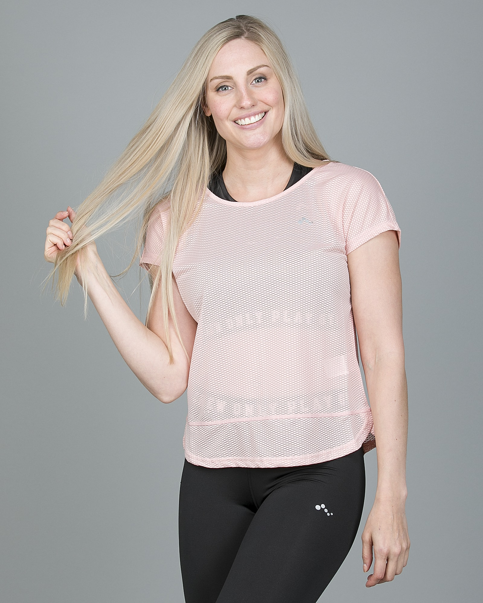 Only Play Jasmin Training Loose Short Sleeve Tee - Silver Pink 15148754