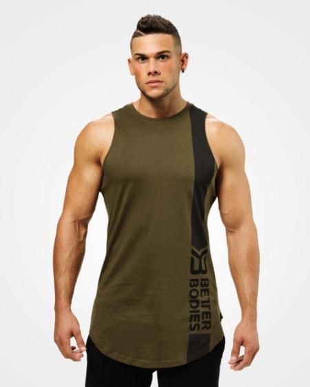 e556679c Better Bodies Stanton Tank – Khaki Green