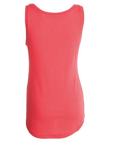 39-434 Tufte Women Summer Tank Top Hibiscus XL Back