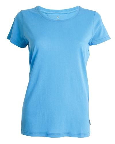 39-511 Tufte Women Summer Tee Medium Bonnie Blue Front