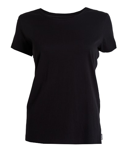 39-525 Tufte Women Summer Tee Black Small Front