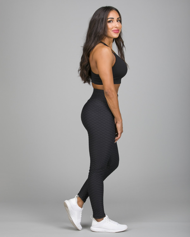 ABS2B Fitness Black Zero Flaw High Rise Leggings8