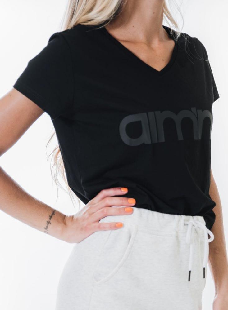 Aim'n Black Logo T-Shirt 2.0 18070001 b