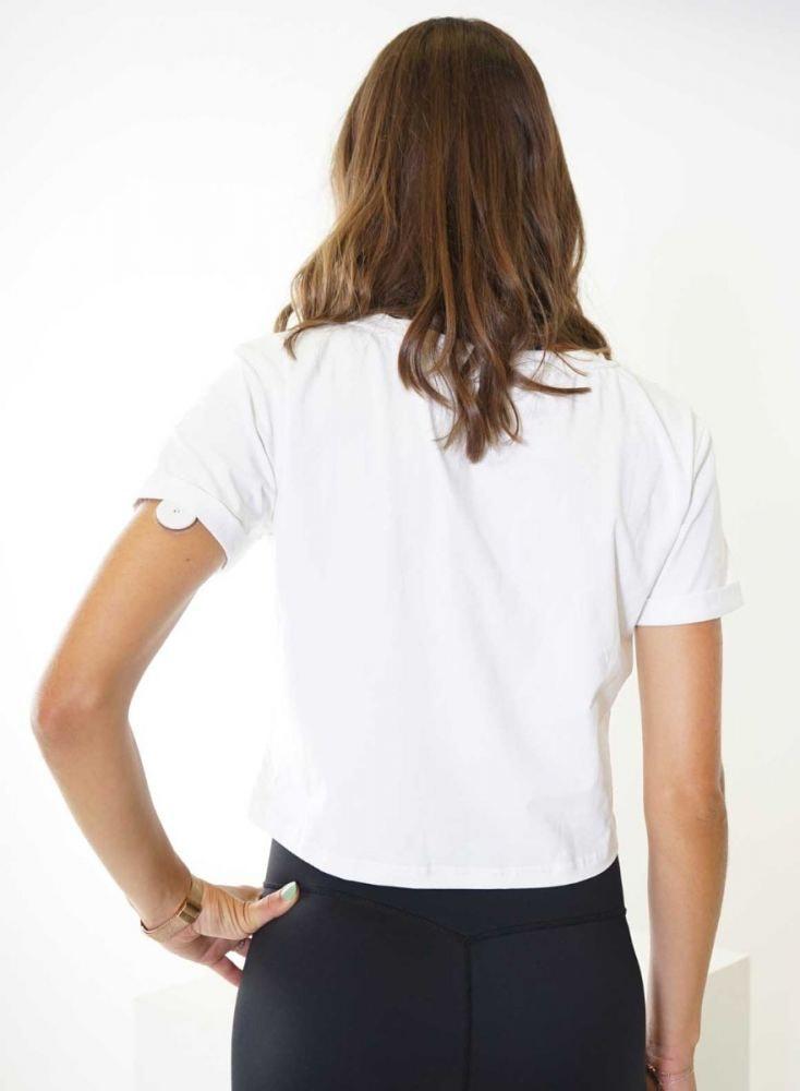 Aim'n White Crop T-Shirt 18070002 c